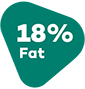 18% fat.