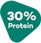 30% protein.